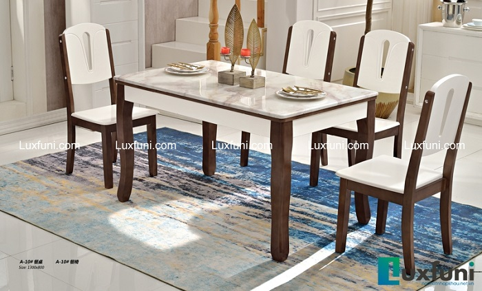 Những điểm cộng tuyệt vời của bàn ăn gỗ mặt đá-1