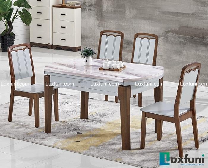 Những điểm cộng tuyệt vời của bàn ăn gỗ mặt đá-3