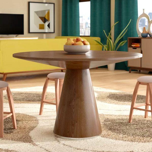 Giới thiệu 15+ mẫu bàn ăn tròn bằng gỗ đang được săn đón-10