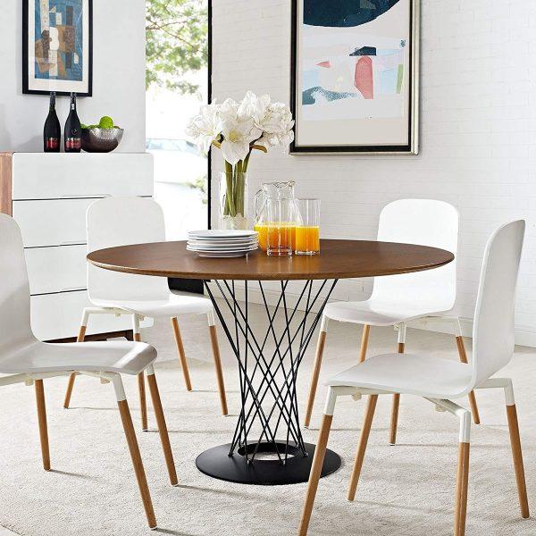 Giới thiệu 15+ mẫu bàn ăn tròn bằng gỗ đang được săn đón-4