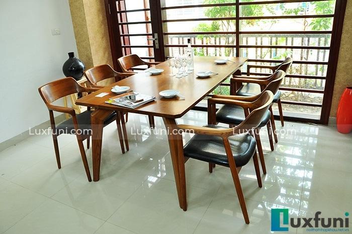 Điểm danh những mẫu bàn ăn đẹp bằng gỗ tự nhiên-3