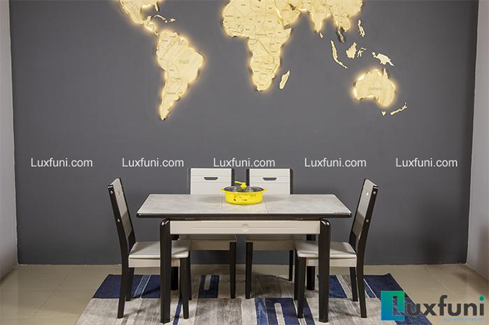 Mẫu bàn ăn đẹp cho chung cư 4 ghế được yêu thích nhất 2020-1