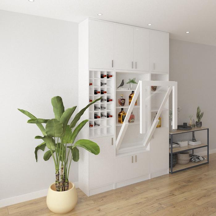 Những mẫu bàn ăn thông minh kết hợp tủ rượu đẹp-11