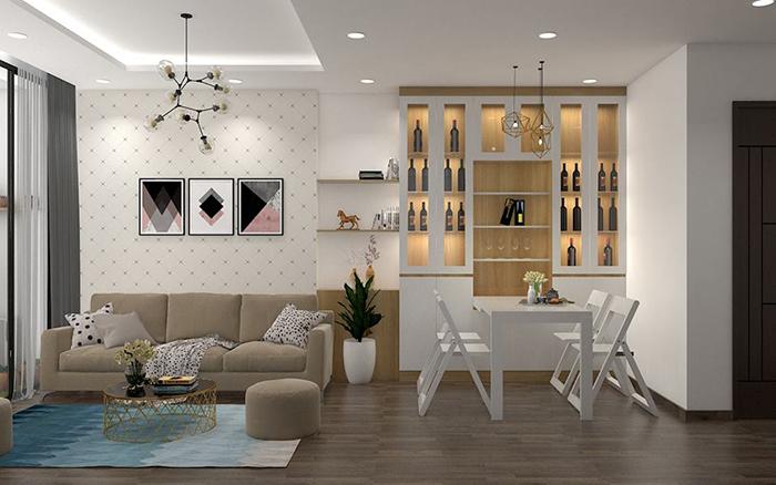 Những mẫu bàn ăn thông minh kết hợp tủ rượu đẹp-7