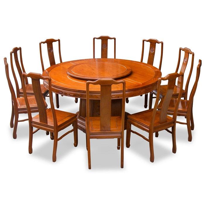 Tròn mắt với những mẫu bàn ăn đẹp 10 ghế siêu sang chảnh-1