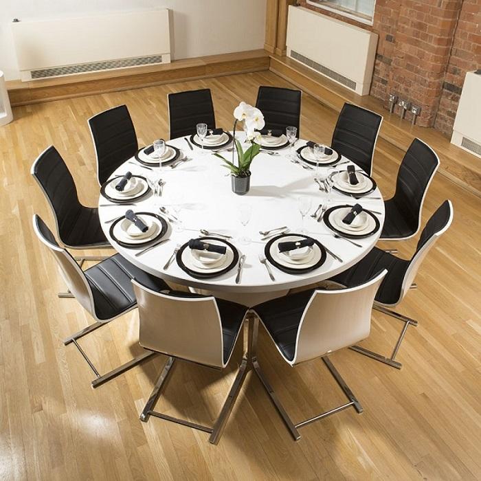 Tròn mắt với những mẫu bàn ăn đẹp 10 ghế siêu sang chảnh-2