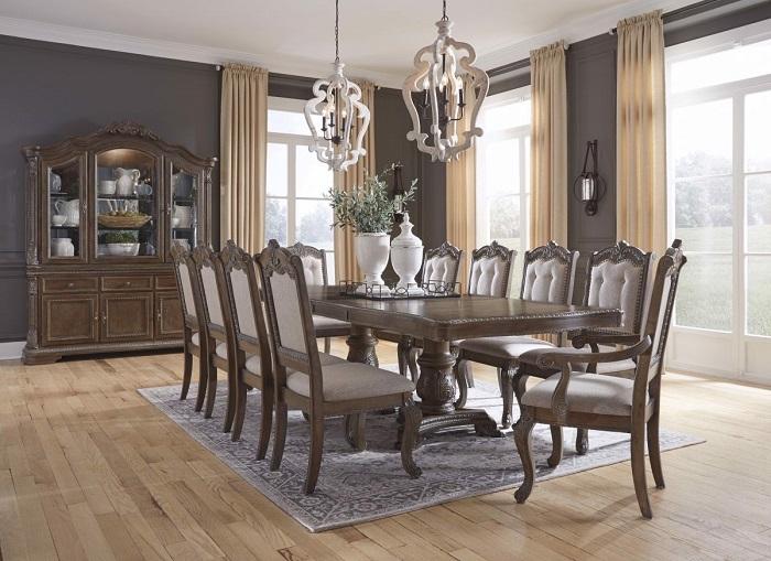Tròn mắt với những mẫu bàn ăn đẹp 10 ghế siêu sang chảnh-3