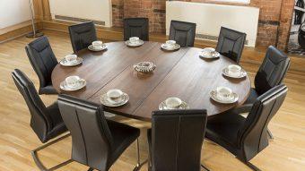 Tròn mắt với những mẫu bàn ăn đẹp 10 ghế siêu sang chảnh