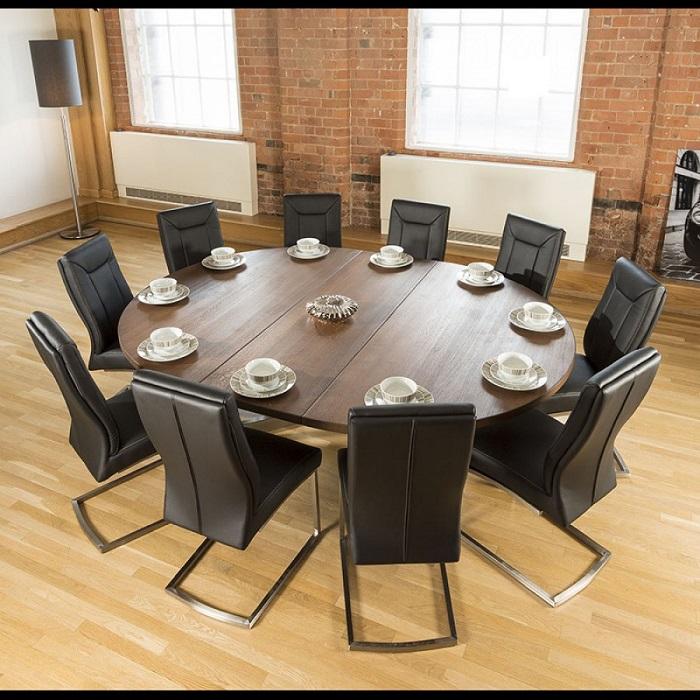 Tròn mắt với những mẫu bàn ăn đẹp 10 ghế siêu sang chảnh-4