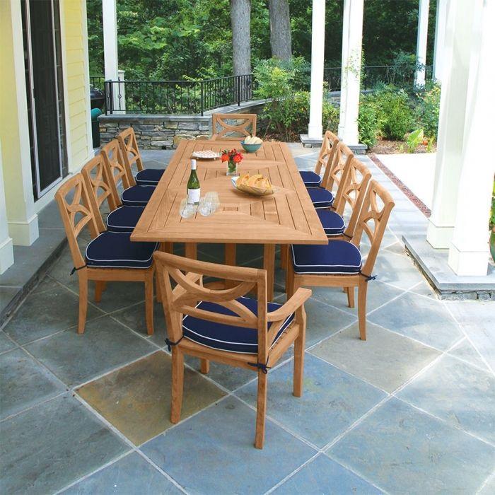 Tròn mắt với những mẫu bàn ăn đẹp 10 ghế siêu sang chảnh-5