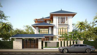 Cùng chiêm ngưỡng những biệt thự 3 tầng mái Thái tuyệt đẹp