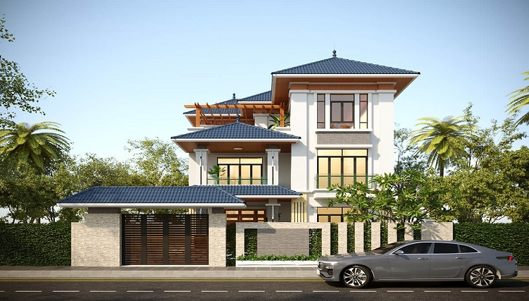 Cùng chiêm ngưỡng những biệt thự 3 tầng mái Thái tuyệt đẹp-10
