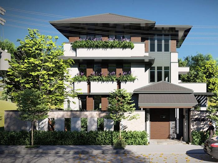 Cùng chiêm ngưỡng những biệt thự 3 tầng mái Thái tuyệt đẹp-6