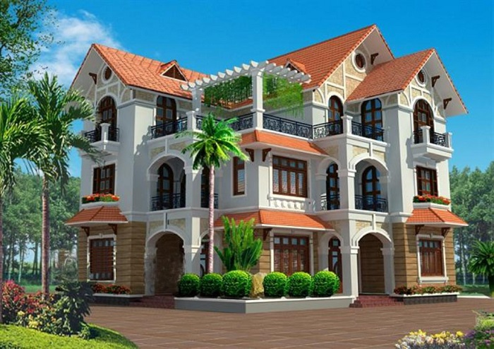Cùng chiêm ngưỡng những biệt thự 3 tầng mái Thái tuyệt đẹp-7