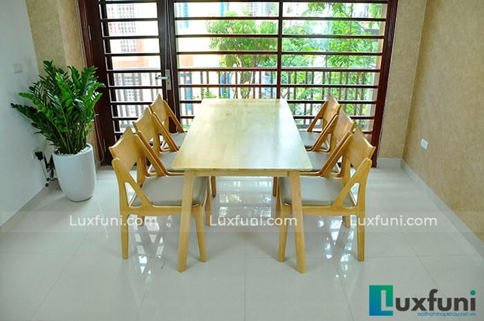 Những bộ bàn ăn gỗ 6 ghế đẹp lung linh nổi bật nhà bếp của bạn-1