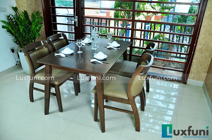 Những bộ bàn ăn gỗ 6 ghế đẹp lung linh nổi bật nhà bếp của bạn-8