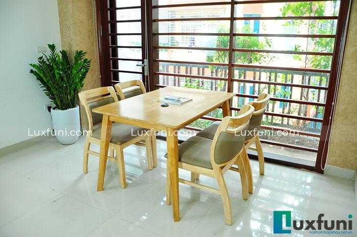 Những bộ bàn ăn gỗ 6 ghế đẹp lung linh nổi bật nhà bếp của bạn-9