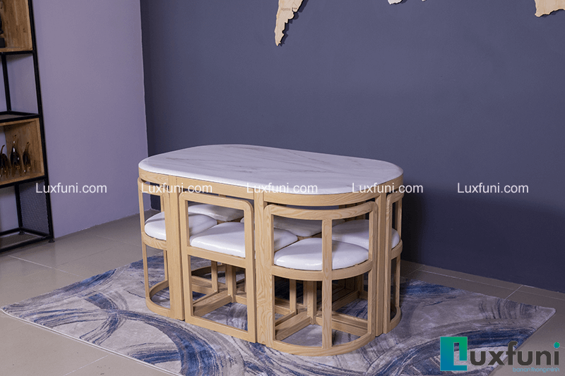 Những bộ bàn ăn gỗ 6 ghế đẹp lung linh nổi bật nhà bếp của bạn-2