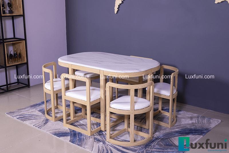 Những bộ bàn ăn gỗ 6 ghế đẹp lung linh nổi bật nhà bếp của bạn-3