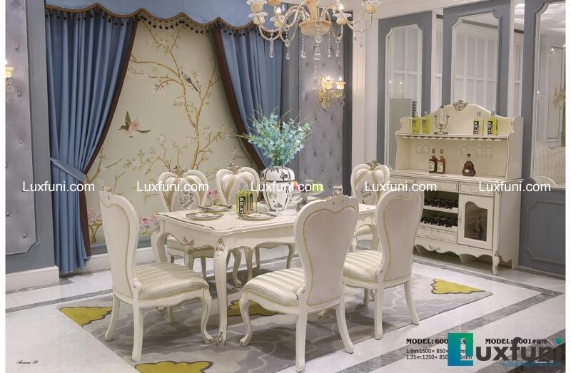 Những bộ bàn ăn gỗ 6 ghế đẹp lung linh nổi bật nhà bếp của bạn-10
