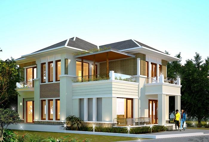 Những mẫu biệt thự hai tầng mái Thái mang phong cách hiện đại-1