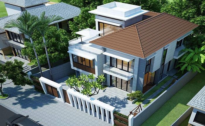 Những mẫu biệt thự hai tầng mái Thái mang phong cách hiện đại-6