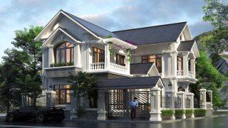 Những mẫu biệt thự hai tầng mái Thái mang phong cách hiện đại