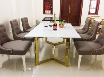 Bàn ghế ăn mặt đá – xu hướng lựa chọn của thời đại