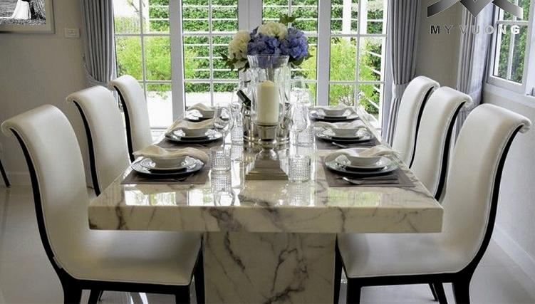 Biến hóa căn bếp với những mẫu bàn ăn đẹp đa chất liệu-1