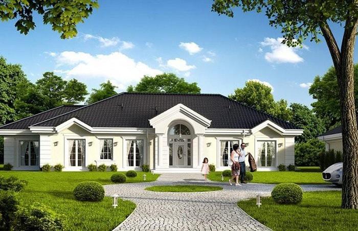 Những mẫu biệt thự nhà vườn 1 tầng mái Thái đẹp ná thở-2