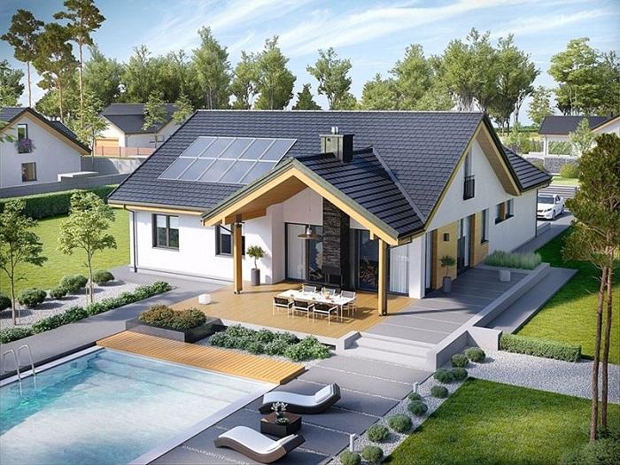 Những mẫu biệt thự nhà vườn 1 tầng mái Thái đẹp ná thở-3