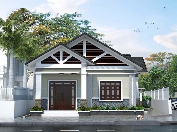 Những mẫu biệt thự nhà vườn 1 tầng mái Thái đẹp ná thở-4