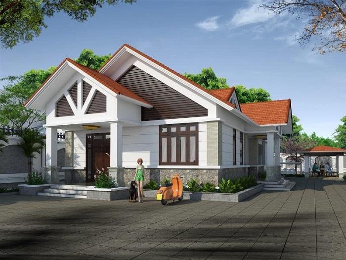 Những mẫu biệt thự nhà vườn 1 tầng mái Thái đẹp ná thở-8