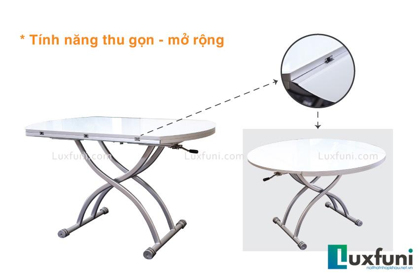 tính năng thu gọn- mở rộng của bàn ăn thông minh xếp gọn B2252