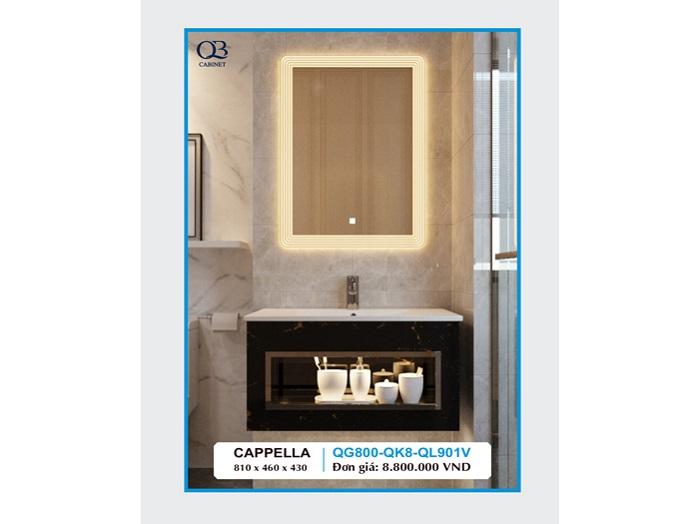Tủ chậu lavabo cappella QG800-QK8-QL901V cao cấp