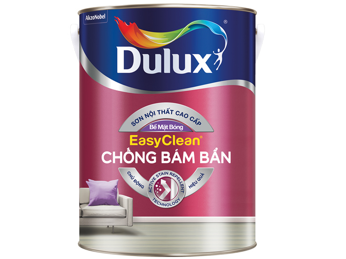 Dulux EasyClean Chống Bám Bẩn – Bề Mặt Bóng