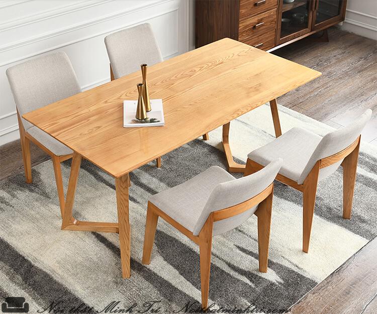 bàn ăn gỗ sồi trắng-1