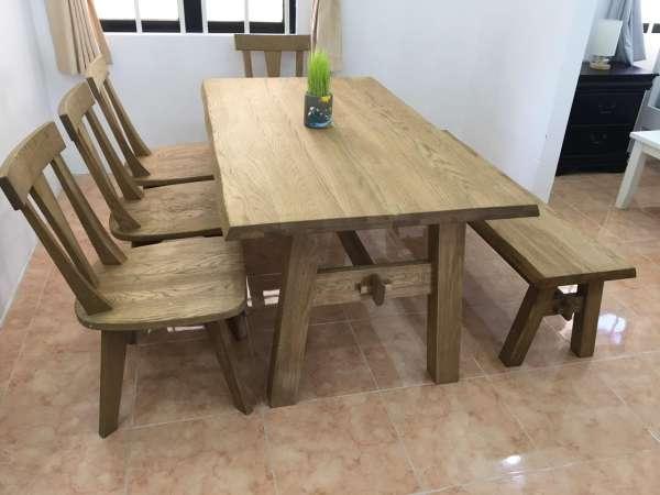 Bộ bàn gỗ sồi đỏ