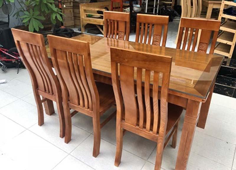 Bộ bàn ăn gỗ sồi nga đỏ