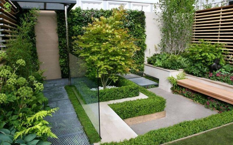 Sử dụng nhiều cây xanh sân vườn luôn thoáng mát và tươi mới