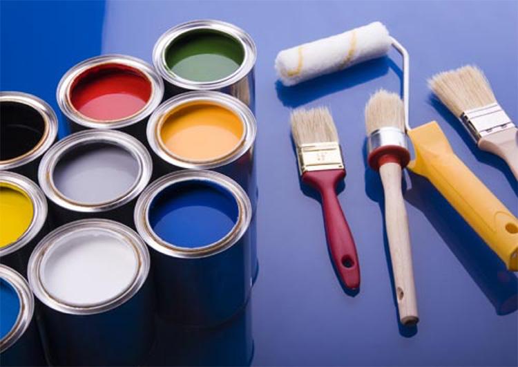Chuẩn bị đầy đủ các dụng cụ sơn nhà
