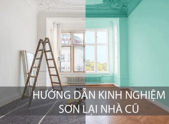 Quy trình sơn tường nhà cũ chuẩn đúng kỹ thuật