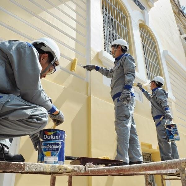 Sơn lại nhà làm cho ngôi nhà bạn thấy đẹp hơn