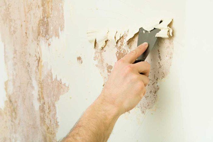 Làm sạch bề mặt tường