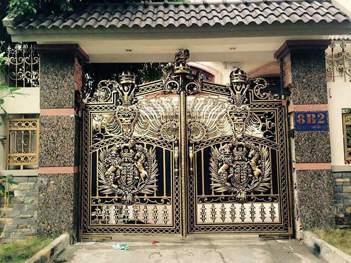Đá granite ốp cổng