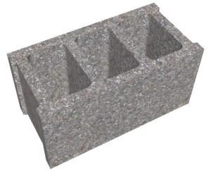 Gạch không nung xi măng cốt liệu 3 lỗ 2 vách