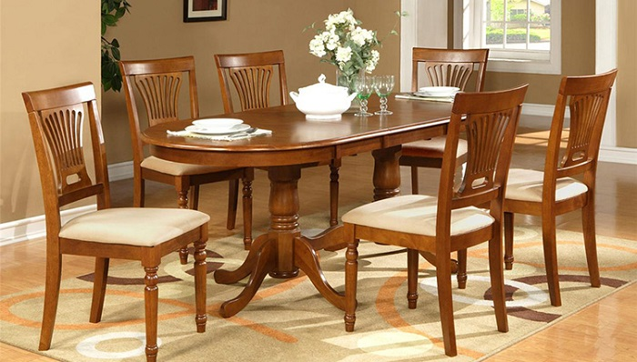 Mẫu bàn ăn đẹp bằng gỗ tự nhiên