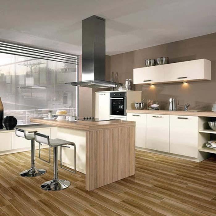 Gạch vân gỗ cho phòng bếp