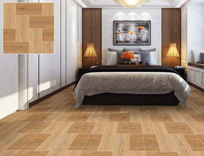 Phòng ngủ sử dụng gạch vân gỗ
