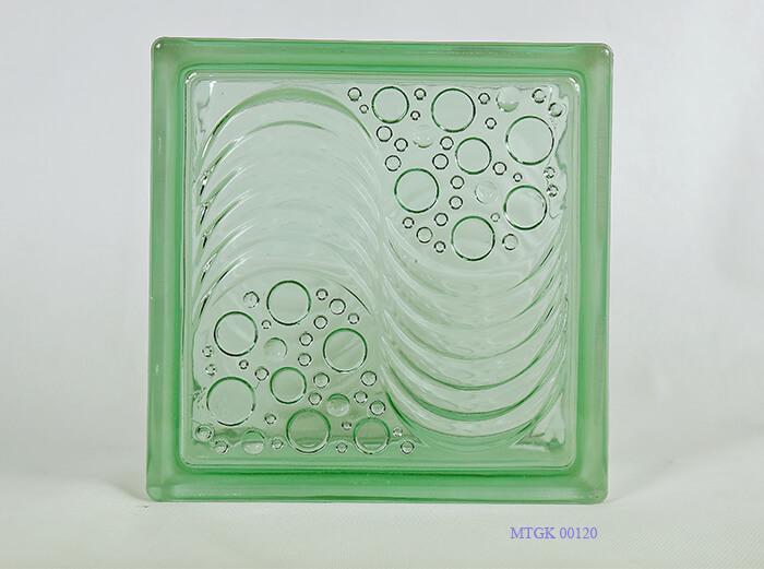 Gạch kính Indonesia bọt nước xanh MTGK 00120